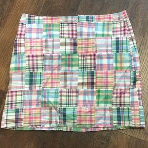 Talbots Skirt checkered NWT 16P 100% Cotton